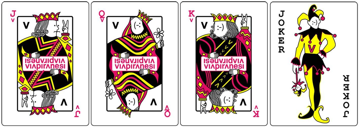 Via Piranesi Playing card deck